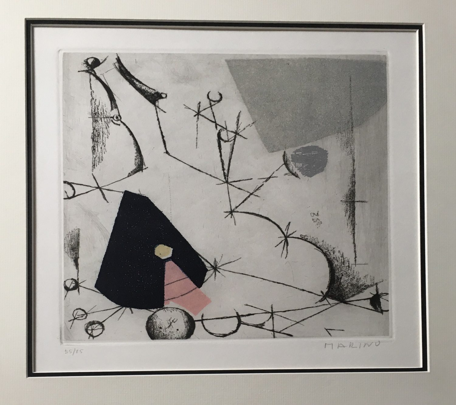 Mario-Marini-(La-ribalta)-1973-Signed-Framed-Art-Etching33