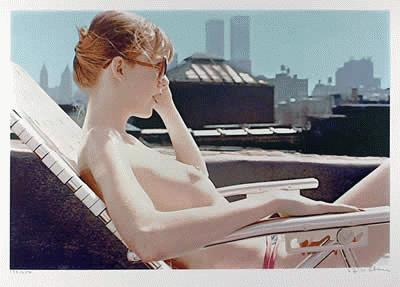 Image result for nude on sun lounger drawings