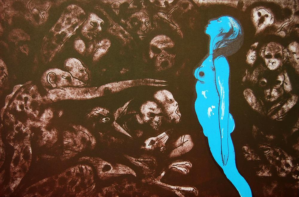 Robert-Beauchamp-untitled-Blue-Women-Print-Lithograph-336