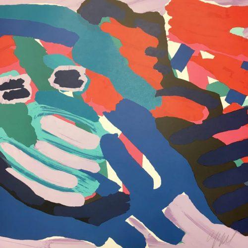 Karel Appel Another Blue Head Again Pencil Signed Original Lithograph04172018 (2)
