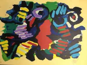 Karel-Appel-Summer-Couple-1979-Abstract-Signed-Art-Lithograph-740