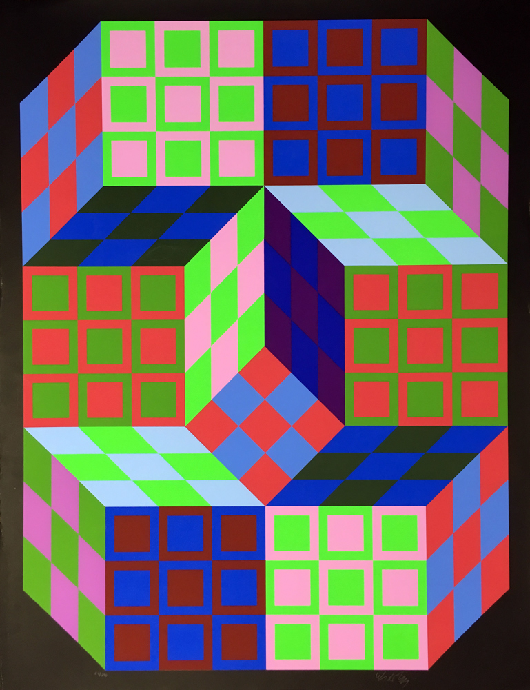 Victor-Vasarely-CARDEN-Original-1980-Limited-Edition-Signed-OP-Art-Silkscreen1758-(5)