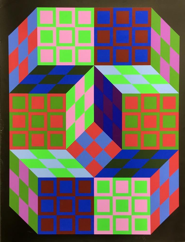 Victor-Vasarely-CARDEN-Original-1980-Signed-OP-Art-Silkscreen06072018-(5)