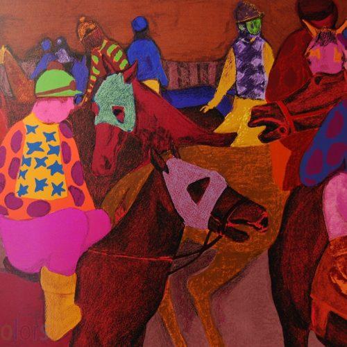 Gustav Likan Horses Plate Sigend618