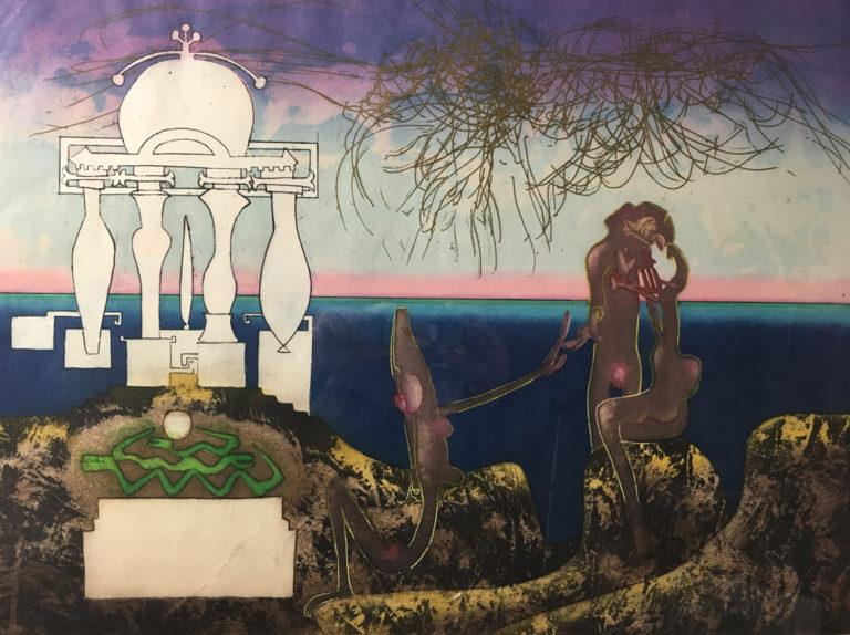 Roberto-Matta-6-a.m.-l'arc-obscur-des-heures-1975-Etching-Aquatint-Framed20171012_0004
