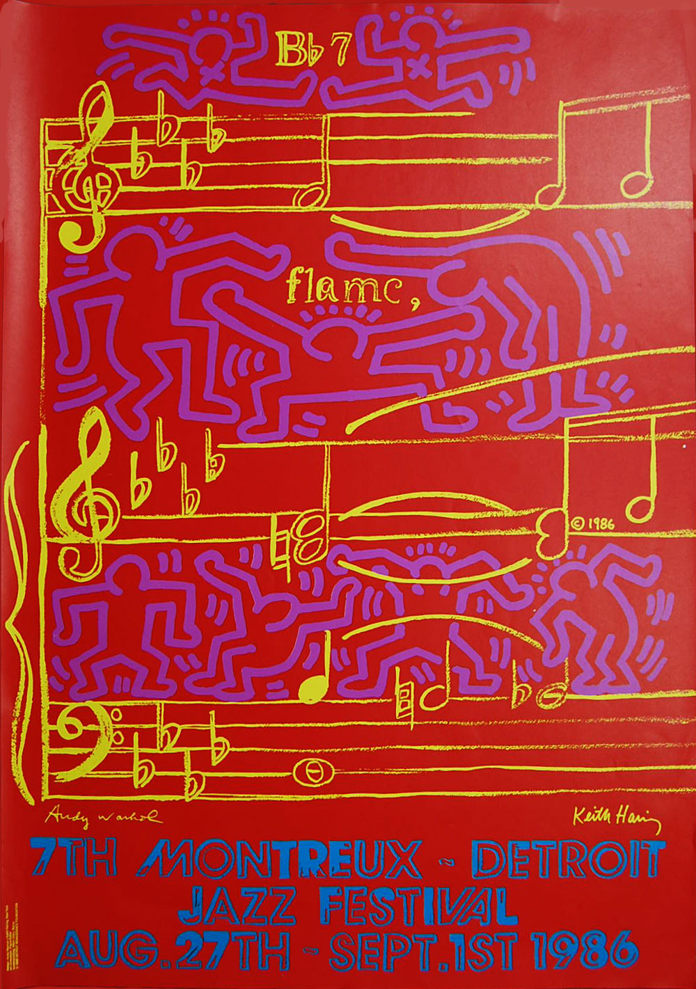 Keith-Haring-&-Andy-Warhol-'Seventh-Montreux-Detroit-Jazz-Fest'-–-1986-Poster510