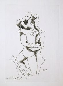Ossip-Zadkine-Abstract-Art-Etching-The-Lovers-1960-Plate-Signed_20170328_5762