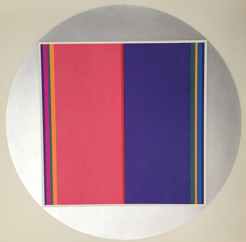 Fletcher-Benton-28-x-28-Silkscreen-Abstract-Color-Art08302018