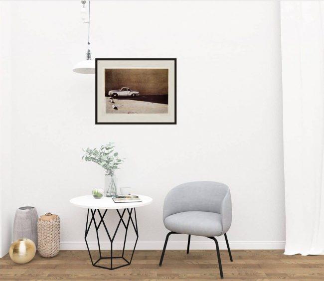 Robert Bechtel Print Framed on wall