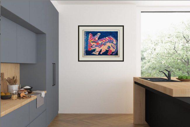 Appel Framed in Modern Room