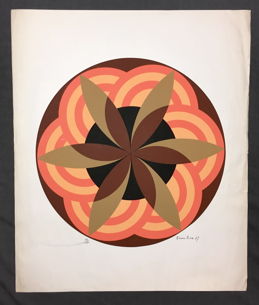 Brian-Rice-Deco-Flower-1969–Signed-Original-Print-Silkscreen10242018-(7)