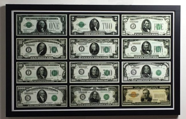federal note framed print
