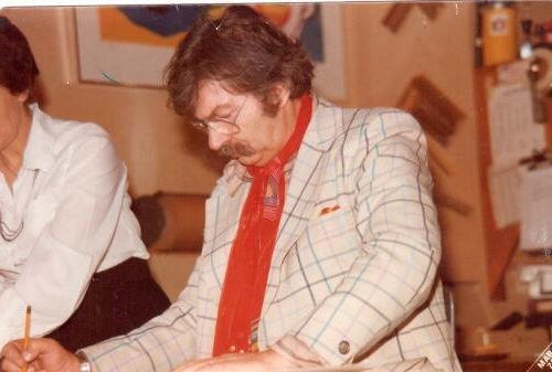 karel appel signs print edition in 1978