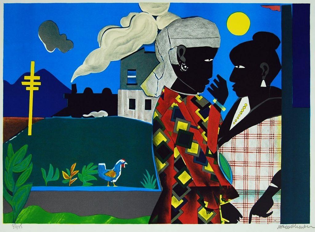 Romare-Bearden-Conversation-1979-Print-Lithograph-215-x-28-380925898050