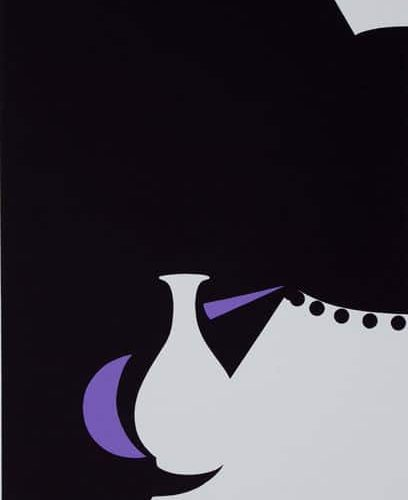 Patrick-Caulfield-Lung-Chung-ware-and-Black-lamp-Signed-Art-1990-380415596351