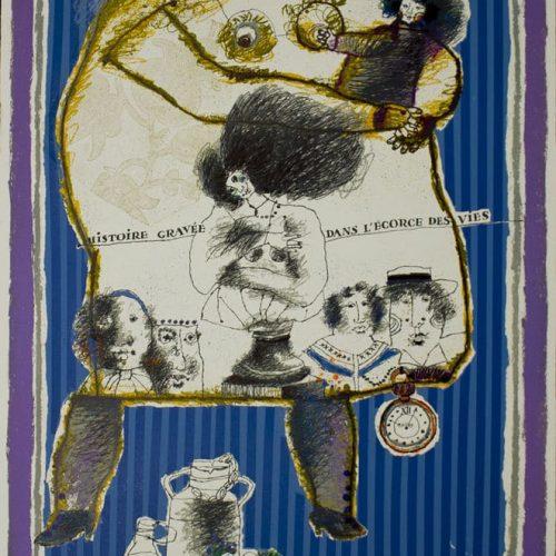 Theo-Tobiasse-Histoire-grave-de-Dans-Lecorce-Des-vies-Lithograph-Signed-Art-380442175023