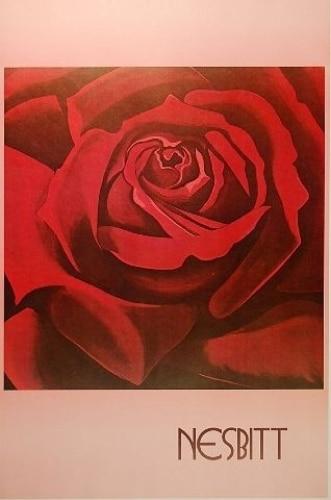 Lowell-Nesbitt-ROSE-Poster-Art-Still-Life-Unsigned-380441376355