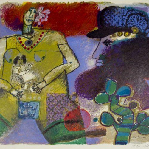Theo-Tobiasse-Un-homme-je-Conte-les-Matins-Lointain-de-sa-Famille-Signed-Art-380442175008